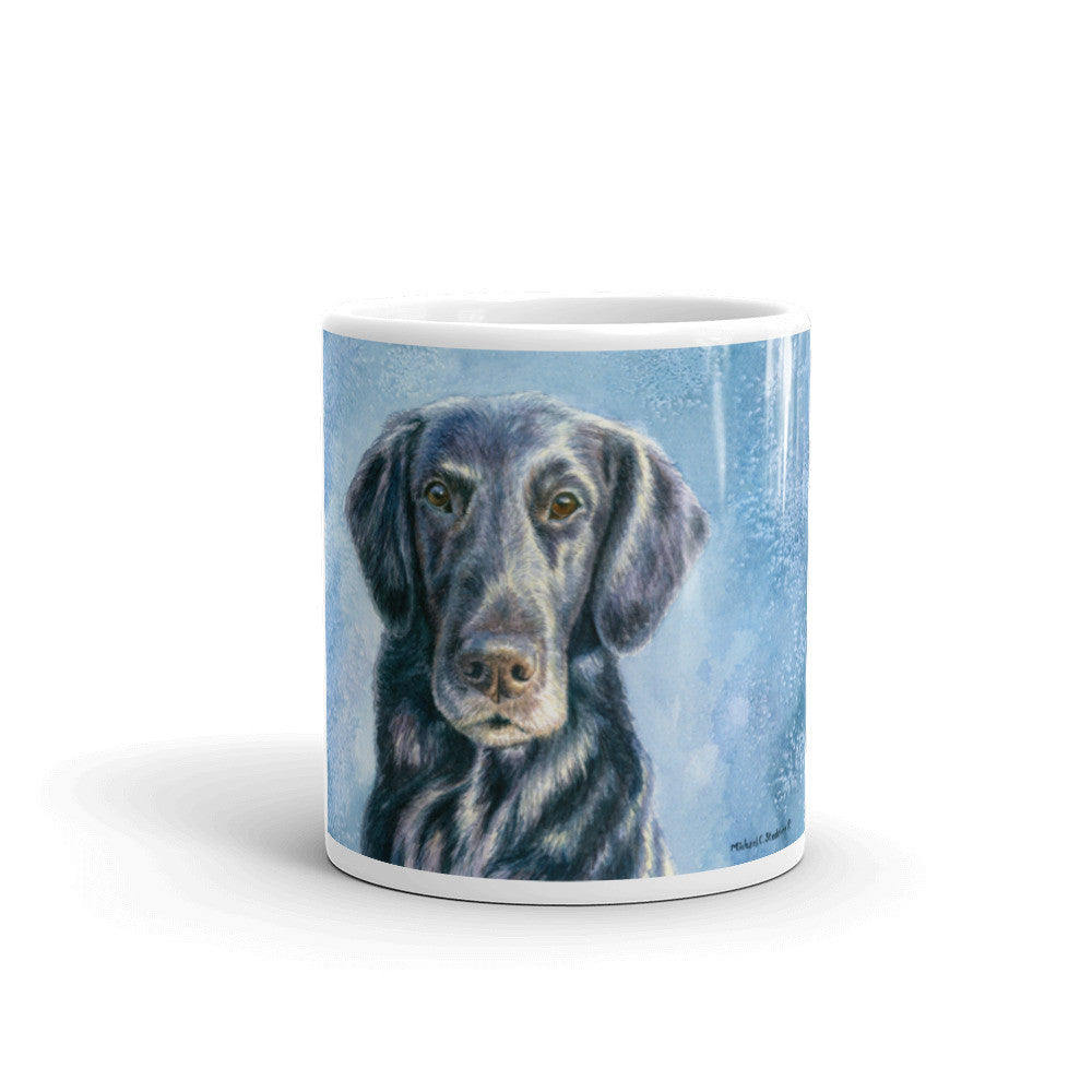 """Intensity"" Flat Coated Retriever 11oz Coffee Mug"