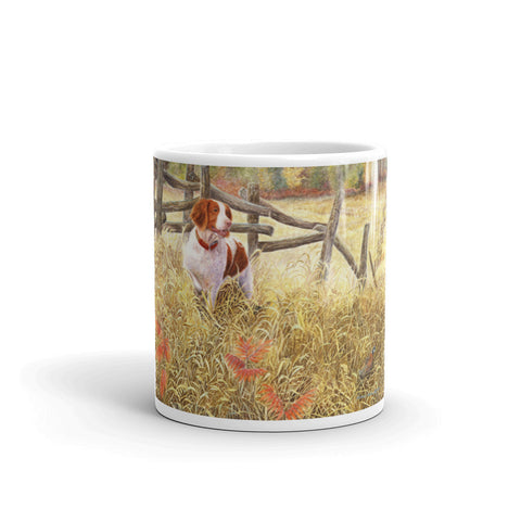 """Brittany and Quail"" Brittany 11oz Coffee Mug"