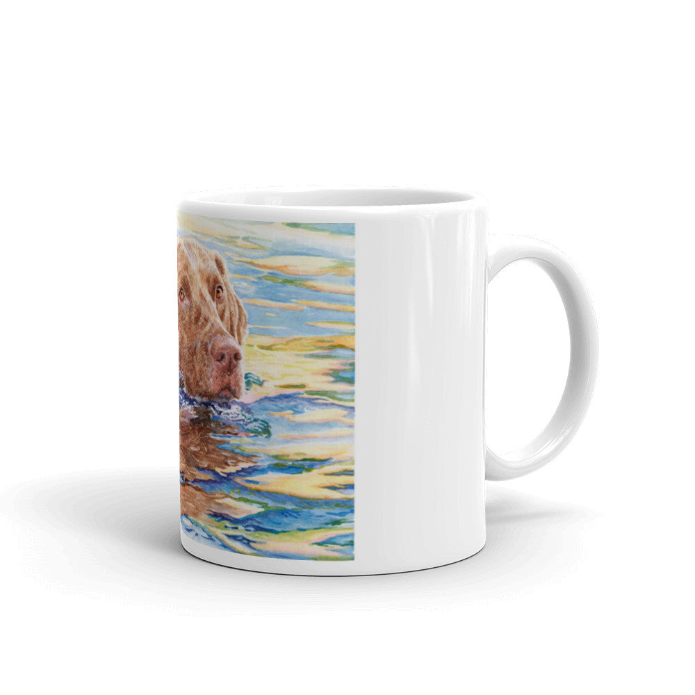 """Water Dog"" Chesapeake Bay Retriever 11oz Coffee Mug"