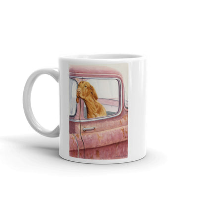 """Don't Forget the Milkbones"" Vizsla 11oz Coffee Mug"