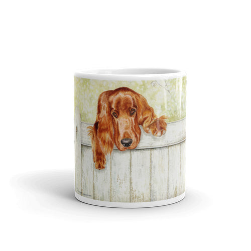 """Fence Talker"" Irish Setter 11oz Coffee Mug"
