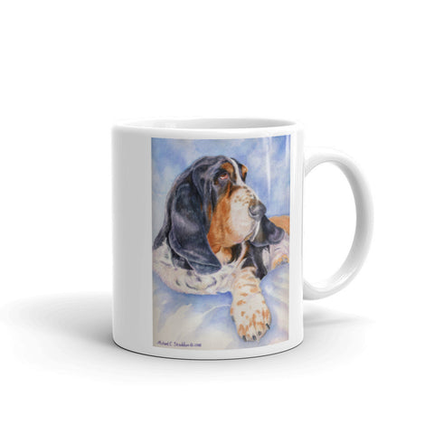 """Basset Hound Head Study VI"" 11oz Coffee Mug"