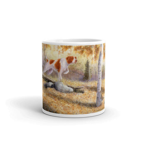 """Grouse Scent"" Brittany 11oz Coffee Mug"