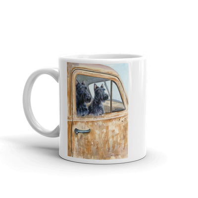 """Outing"" Scottish Terrier 11oz Coffee Mug"
