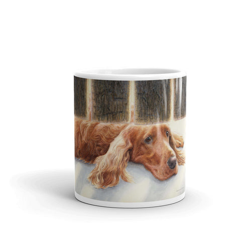 """Watching & Waiting"" Irish Setter 11oz Coffee Mug"