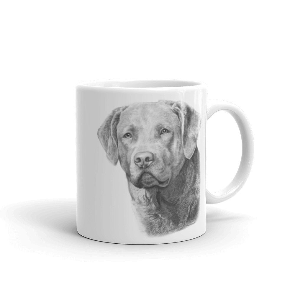 Chesapeake Bay Retriever Pencil, 11oz Coffee Mug