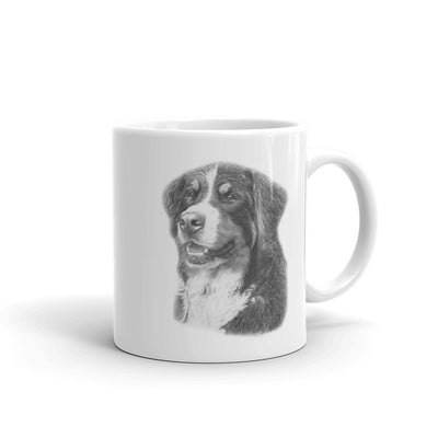 Bernese Mountain Dog Pencil,  11oz Coffee Mug