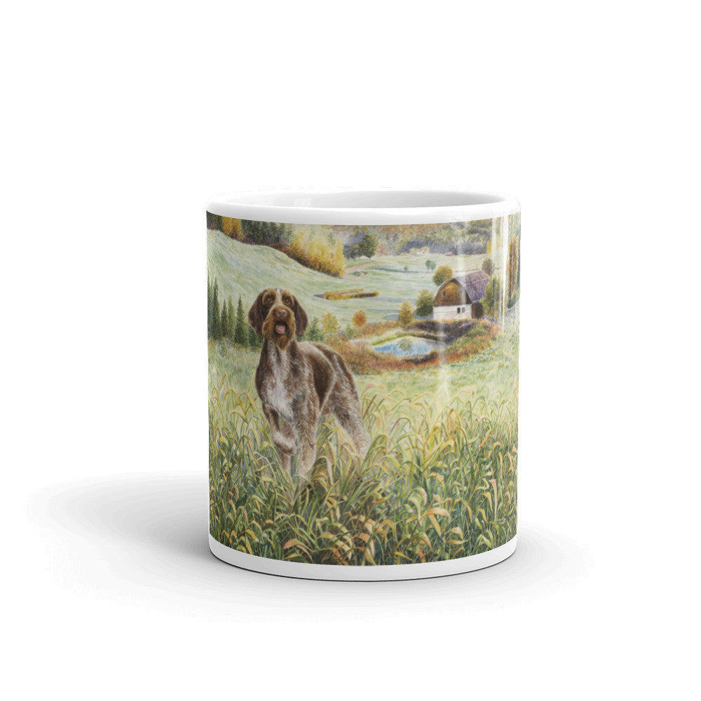 """GWP Farm"" German Wirehaired Pointer 11oz Coffee Mug"