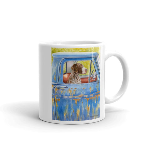 """Anticipation"" German Shorthaired Pointer 11oz Coffee Mug"