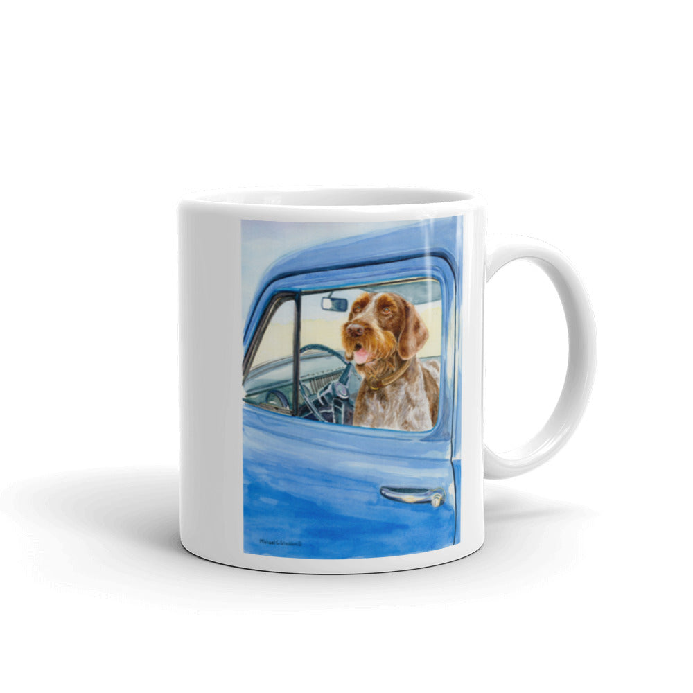 """Sunday Driver"" German Wirehaired Pointer 11oz Coffee Mug"