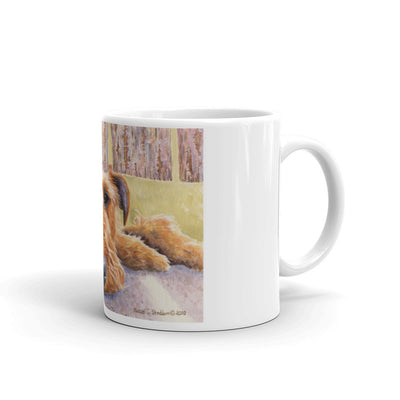 """Watching & Waiting"" Irish Terrier 11oz Coffee Mug"