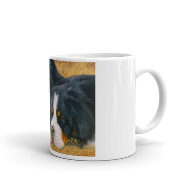 """Observers"" Bernese Mountain Dog 11oz Coffee Mug"