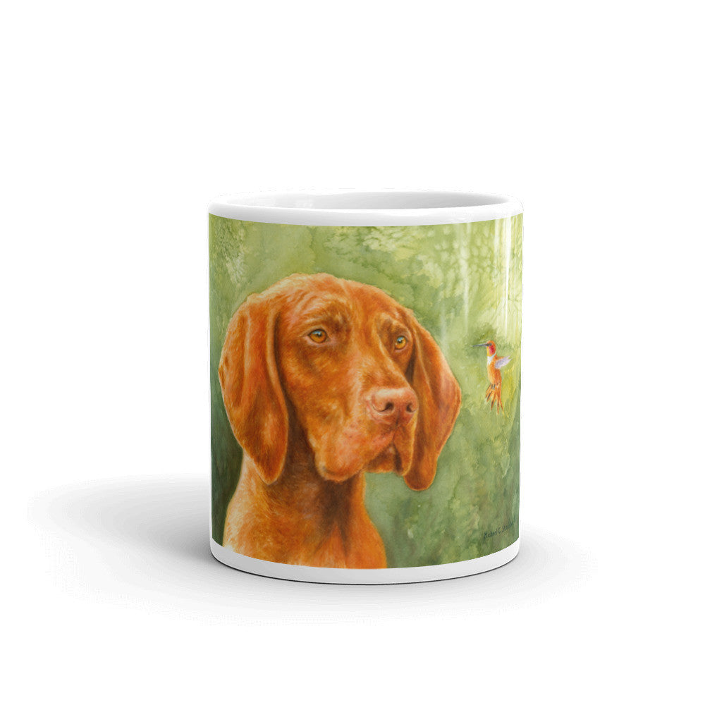 """Bird Dog"" 11oz Vizsla Coffee Mug"