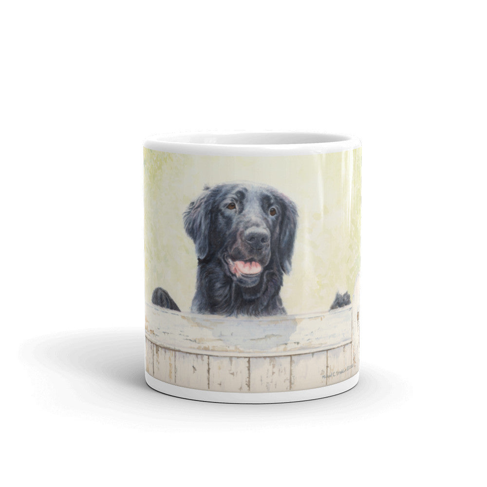 """First Impressions"" Flat Coated Retriever 11oz Coffee Mug"