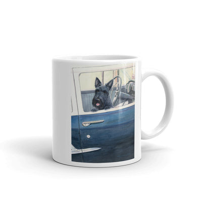"""Scottie in a 55"" Scottish Terrier 11oz Coffee Mug"