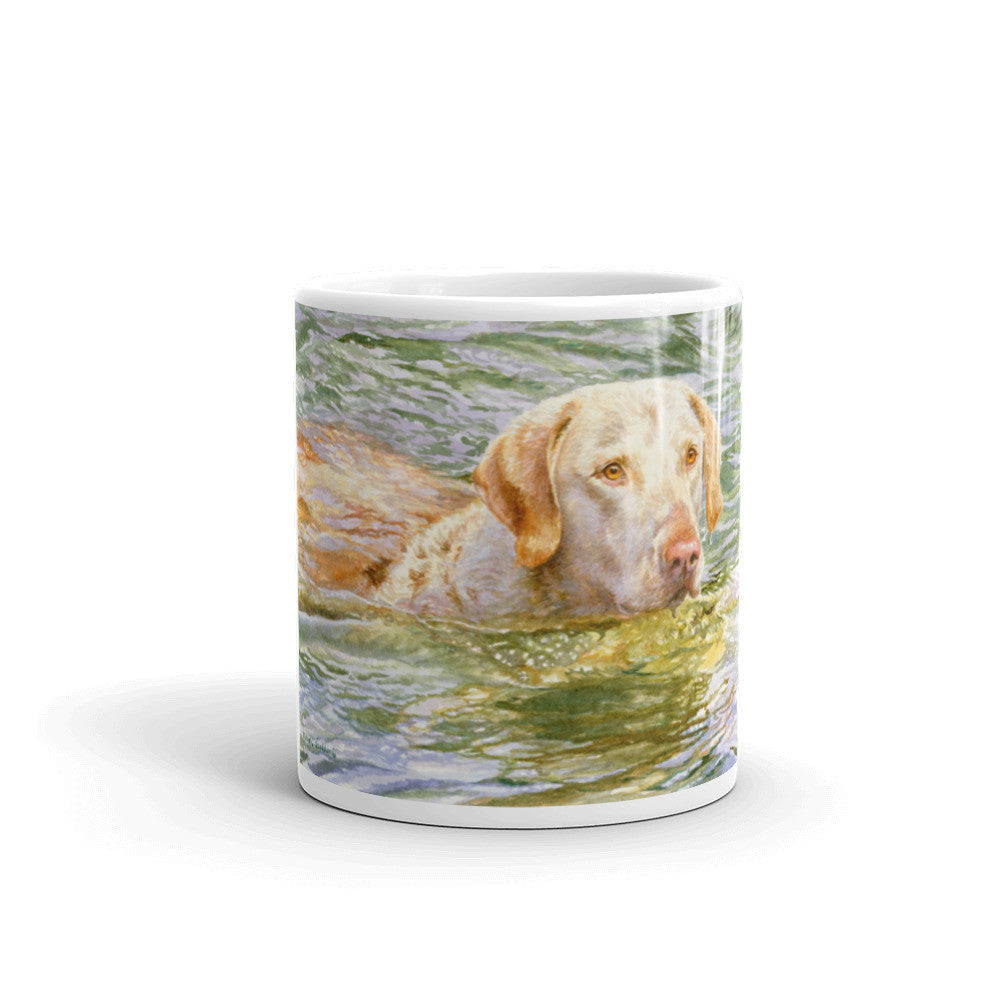 """Summer Swim"" Chesapeake Bay Retriever 11oz Coffee Mug"