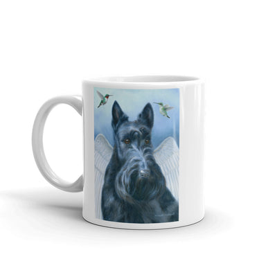 """Angel Wings"" Scottish Terrier 11oz Coffee Mug"