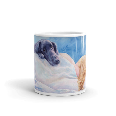 """Lucky Dog"" Flat Coated Retriever 11oz Coffee Mug"