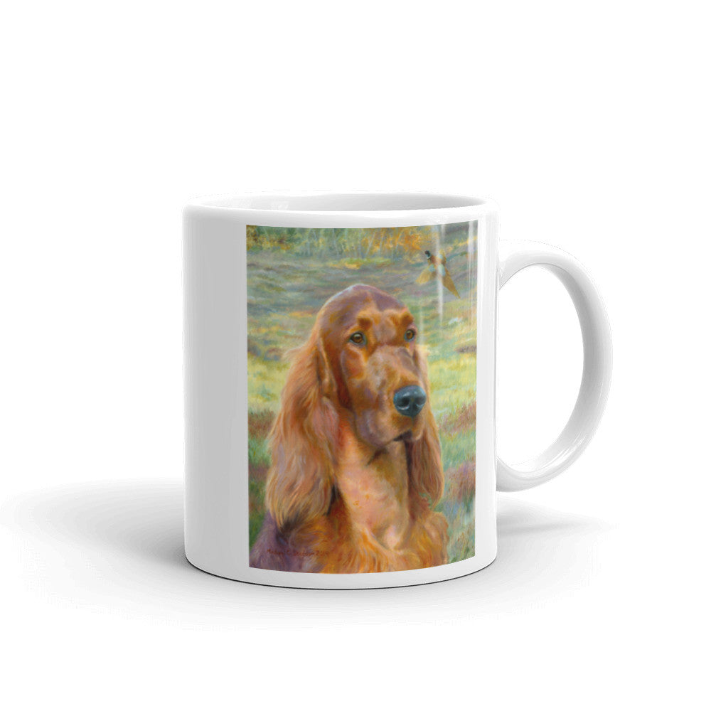 """Sporting Days"" Irish Setter 11oz Coffee Mug"