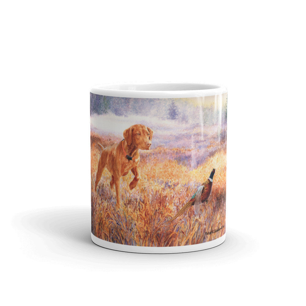 """Foggy Bottom"" Vizsla 11oz Coffee Mug"