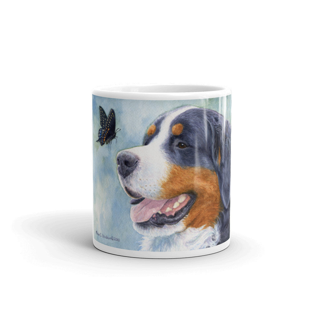 """Encounter"" Bernese Mountain Dog 11oz Coffee Mug"