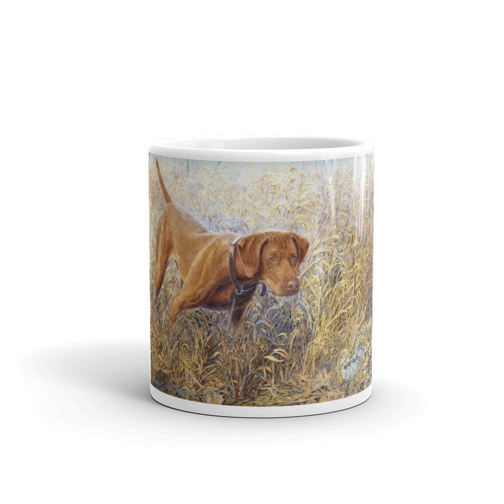 """Right There"" Vizsla 11oz Coffee Mug"
