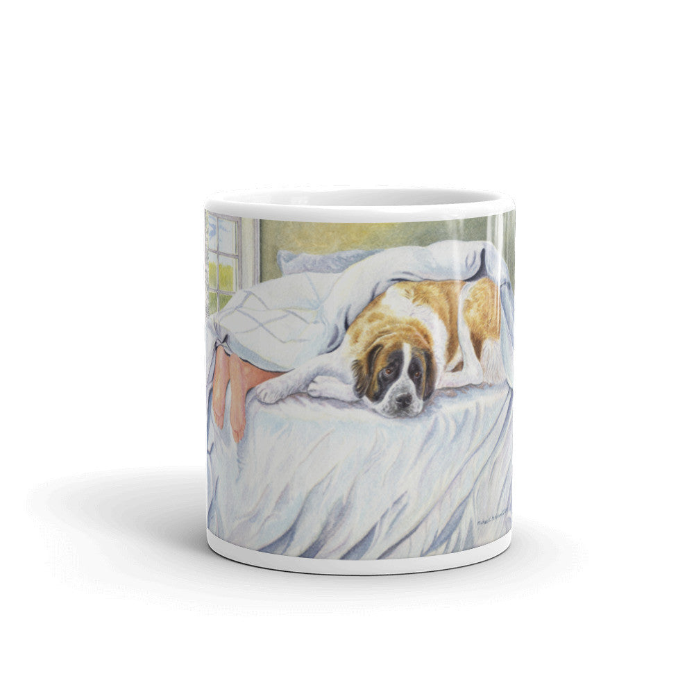 """St Feet"" Saint Bernard 11oz Coffee Mug"