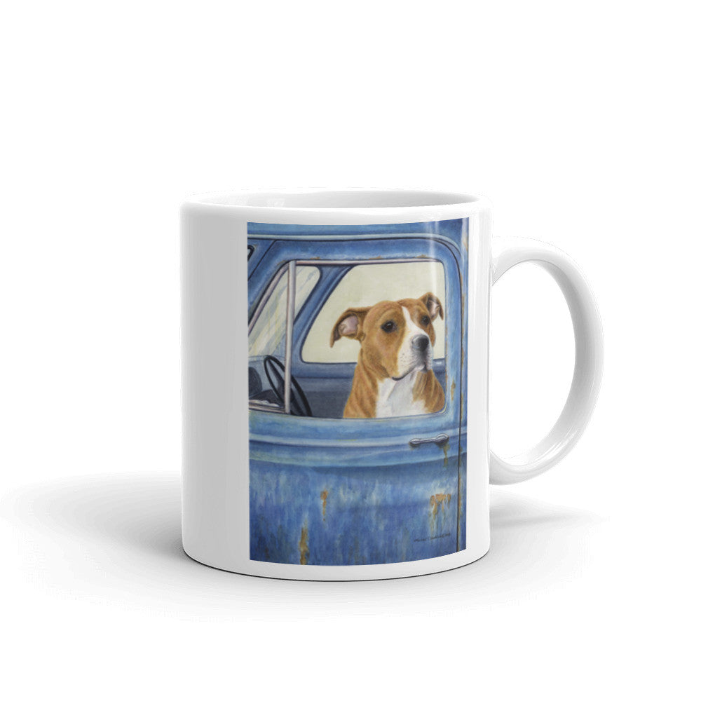"""I'll Watch The Truck"" American Staffordshire Terrier 11oz Coffee Mug"