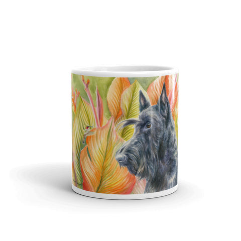 """The Visitor"" Scottish Terrier 11oz Coffee Mug"