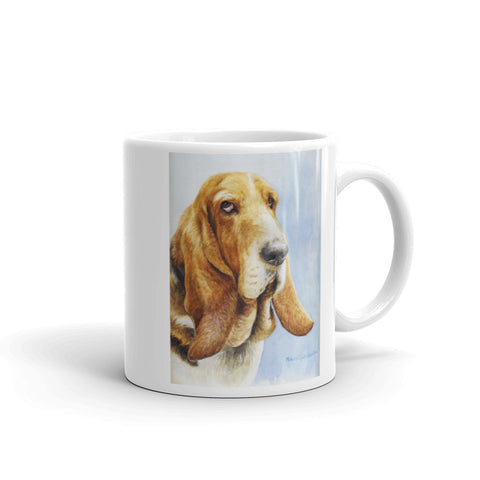 """Basset Hound Head Study V"" 11oz Coffee Mug"