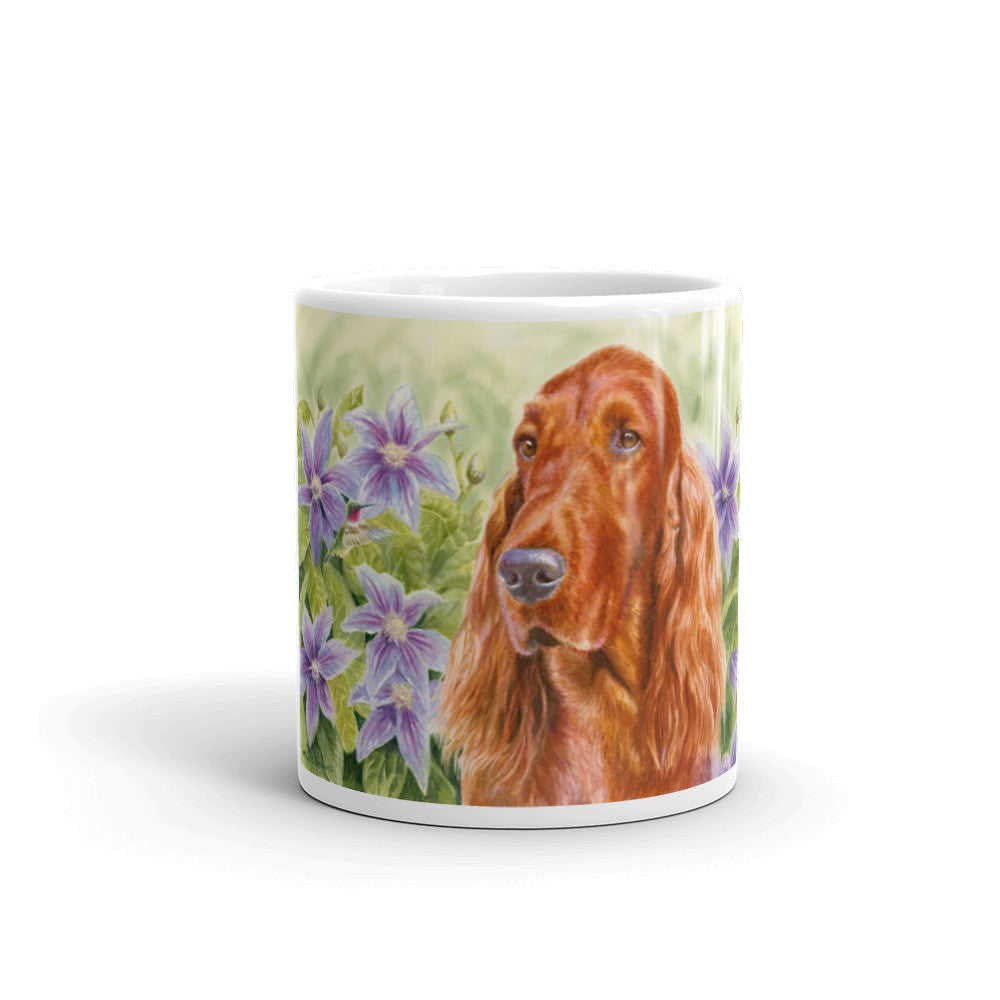 """Summer Garden"" Irish Setter 11oz Coffee Mug"
