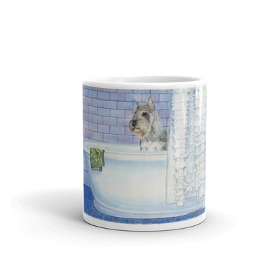 """Schnauzer Bath"" 11oz Coffee Mug"