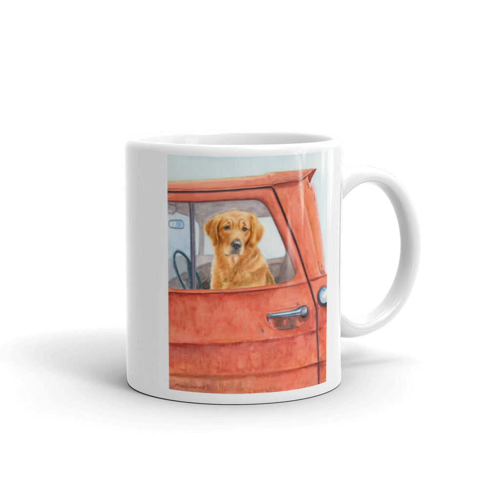 Sunday Drive, Golden Retriever 11oz Coffee Mug