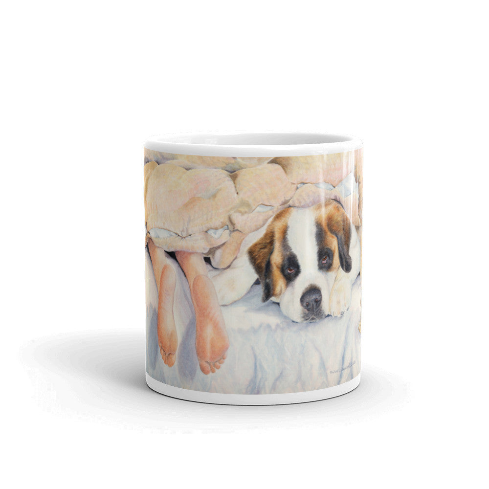 """Heads or Tails"" Saint Bernard 11oz Coffee Mug"