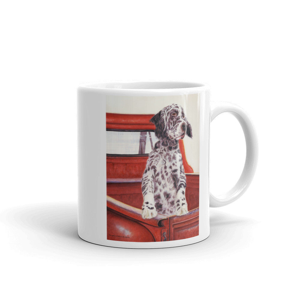 """I'll Wait Here"" English Setter 11oz Coffee Mug"
