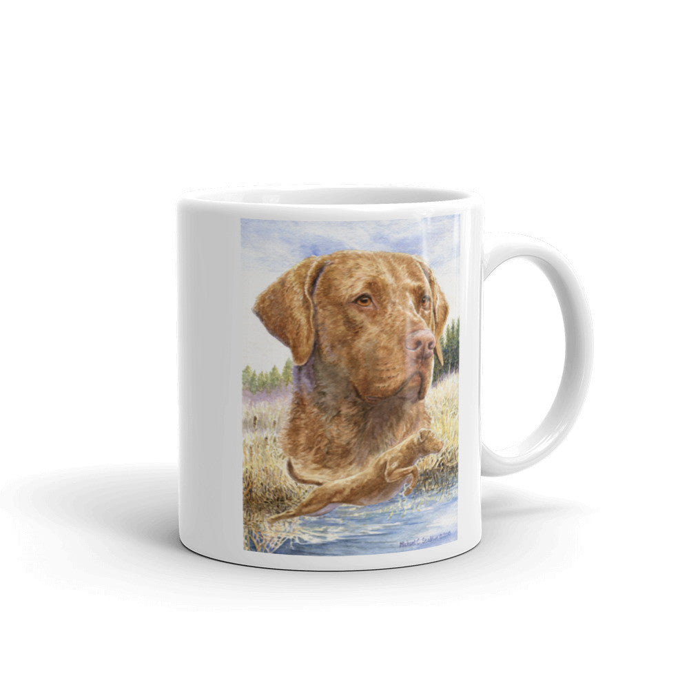 """Splash"" Chesapeake Bay Retriever 11oz Coffee Mug"