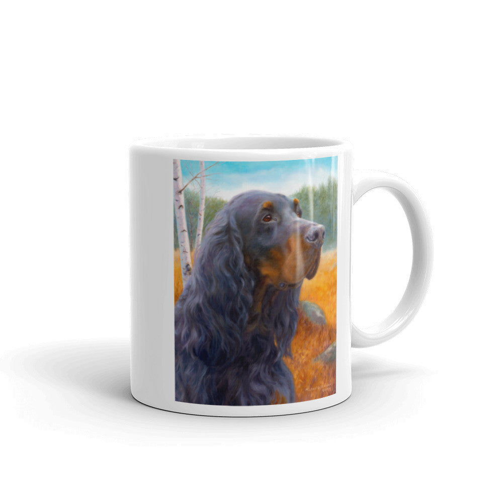 """Blaze of Glory"" Gordon Setter 11oz Coffee Mug"