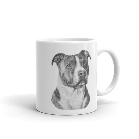 American Staffordshire Terrier Pencil 11oz Coffee Mug