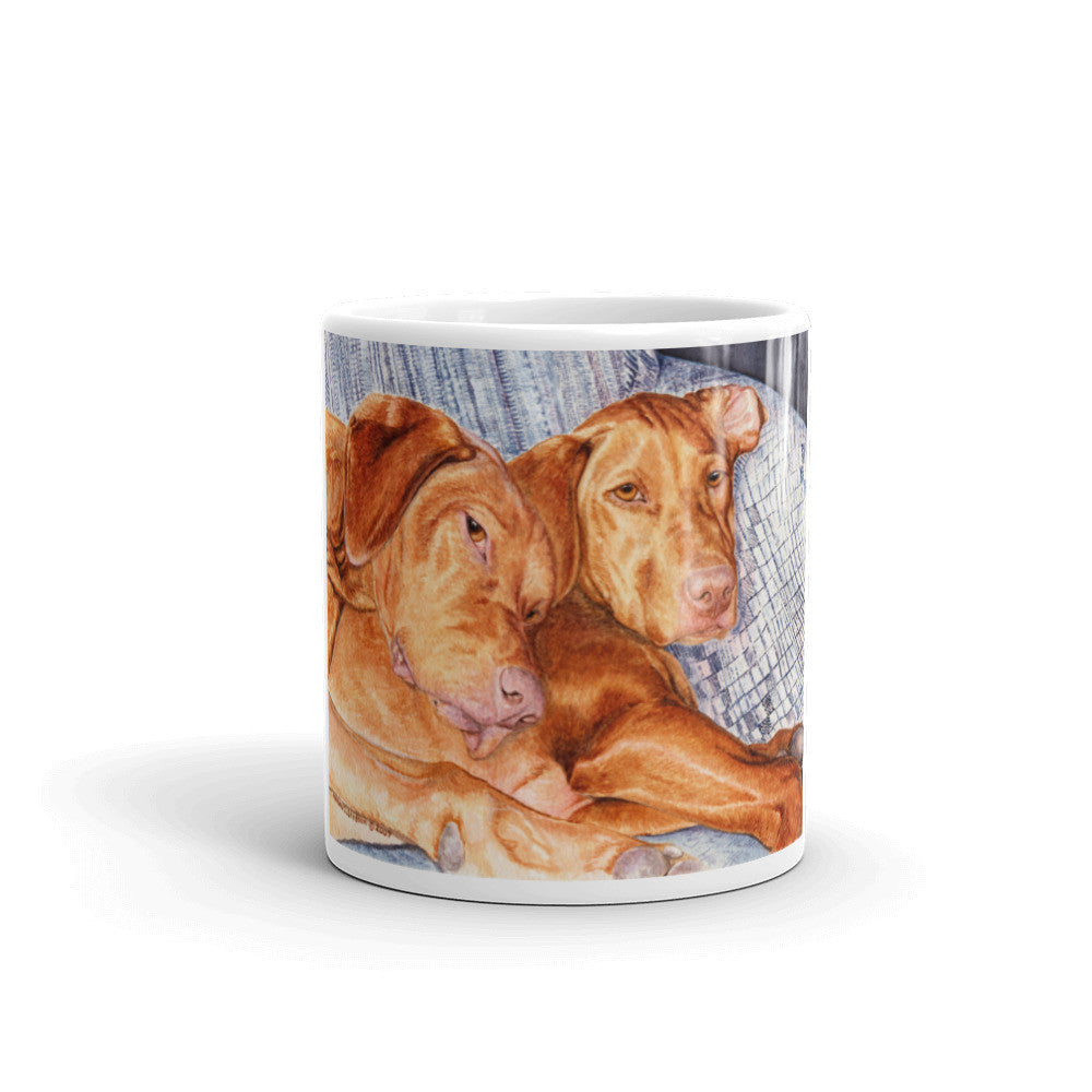 """Couch Potatoes"" Vizsla 11oz Coffee Mug"