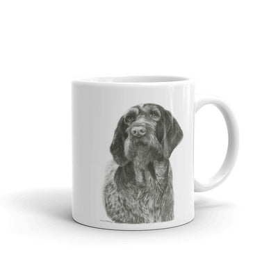 """GWP Pencil"" German Wirehaired Pointer 11oz Coffee Mug"