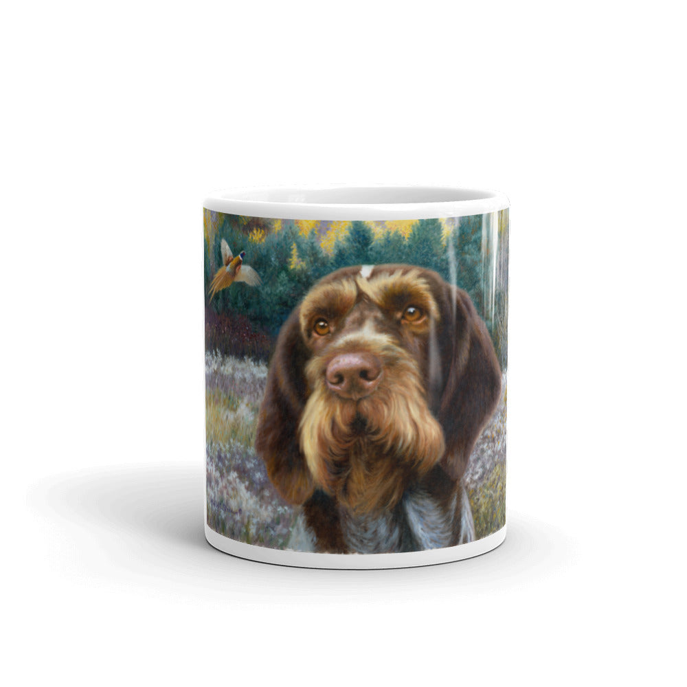 """GWP Oil"" German Wirehaired Pointer 11oz Coffee Mug"