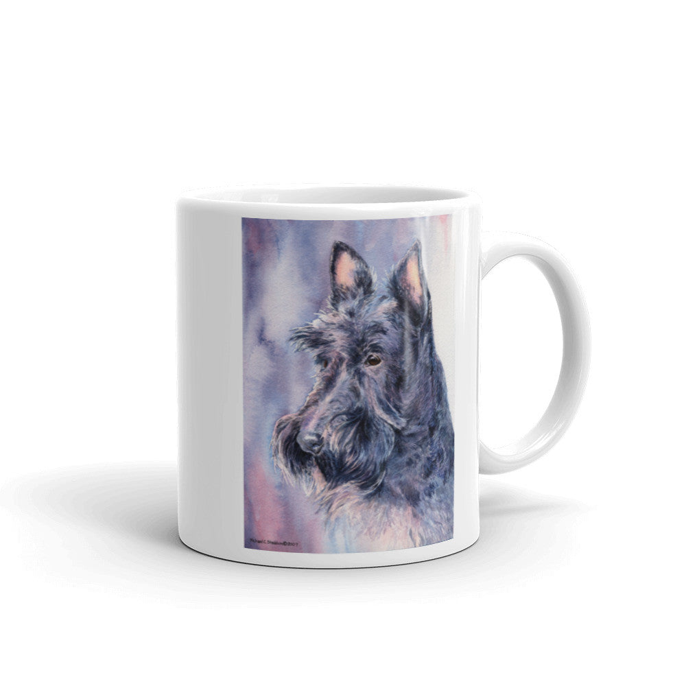 Scottish Terrier Head Study Watercolor 11oz Coffee Mug