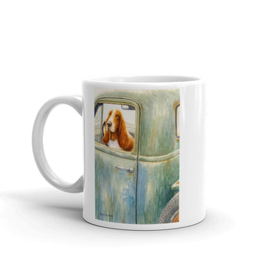 """Country Roads"" Basset Hound 11oz Coffee Mug"