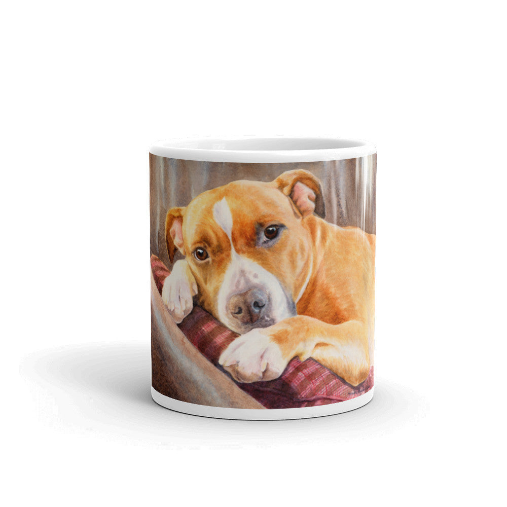 """Sleepy Time"" American Staffordshire Terrier 11oz Coffee Mug"