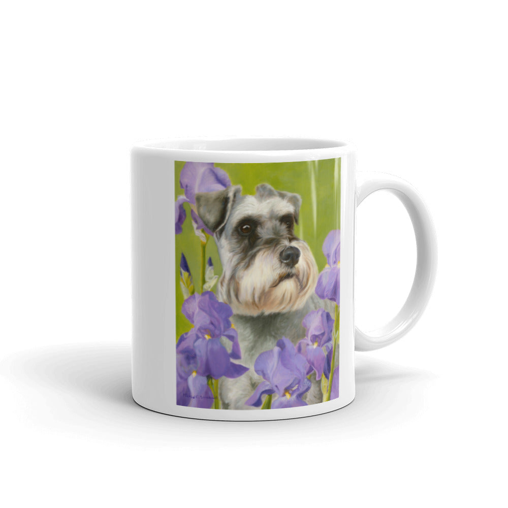 Schnauzer Irises, 11oz Coffee Mug