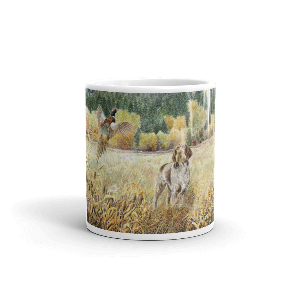 """GWP Field"" German Wirehaired Pointer 11oz Coffee Mug"