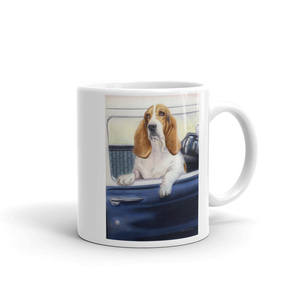 """Don't Forget the Biscuits"" Basset Hound 11oz Coffee Mug"