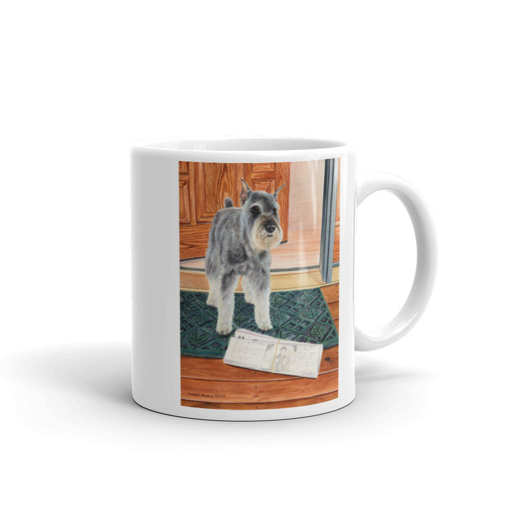 """Paper Boy"" Schnauzer 11oz Coffee Mug"
