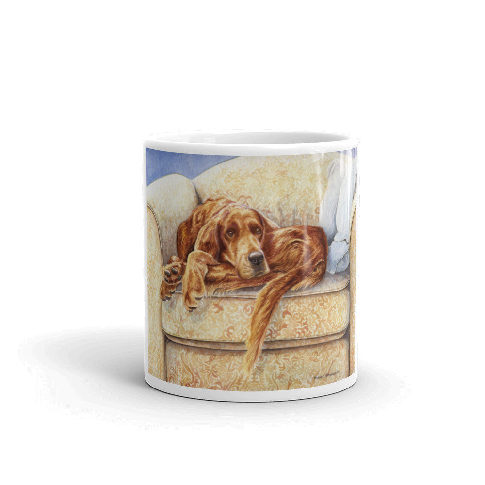 """Irish in a Ball"" Irish Setter 11oz Coffee Mug"