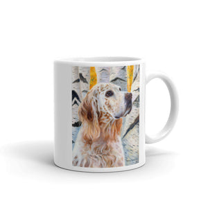 """Coalesce"" English Setter, 11oz Coffee Mug"